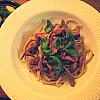 Pasta med oksefilet og svampe