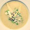 Aspargessuppe med byg og rygeost