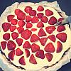 Jordbærtærte med marcipanbund