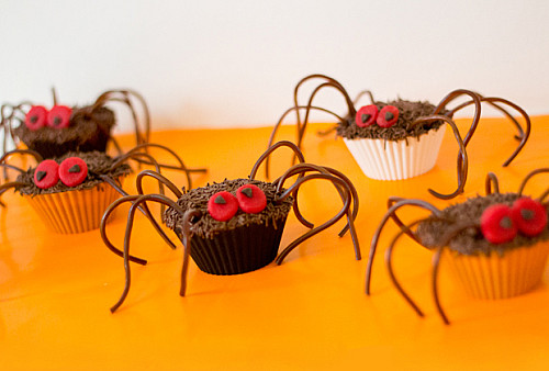 Edderkoppe cupcakes