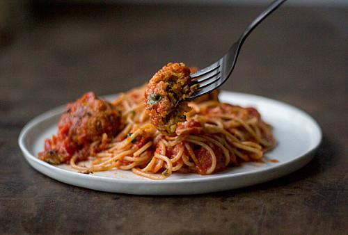 Spaghetti med Quinoaboller
