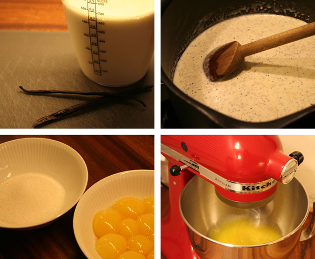 Creme brulee - making