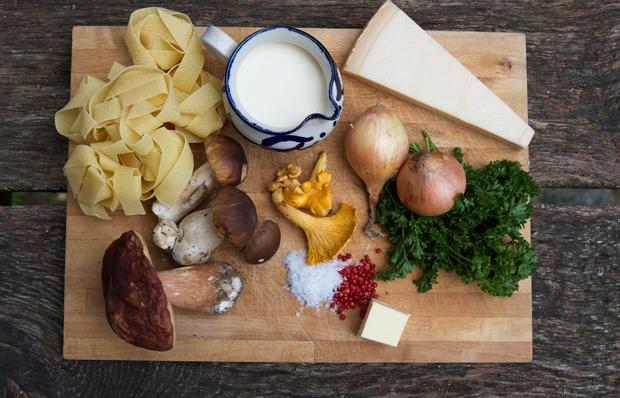 pasta-med-svampe-ingredienser