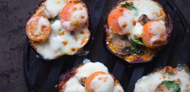 Aubergine Mini-pizza