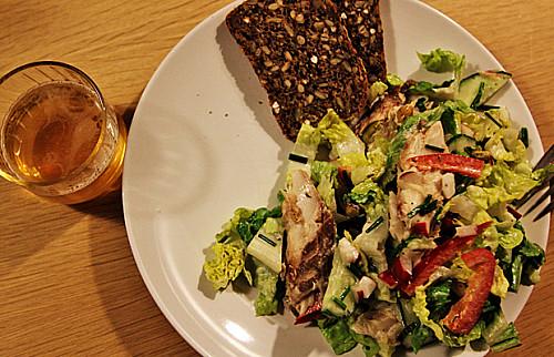Makrelsalat - en grøn én af slagsen