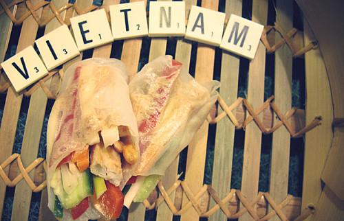 Vietnamesiske rispapirsruller