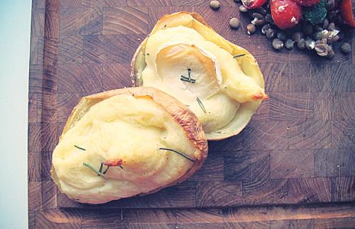 Kartofler med smagfuldt fyld