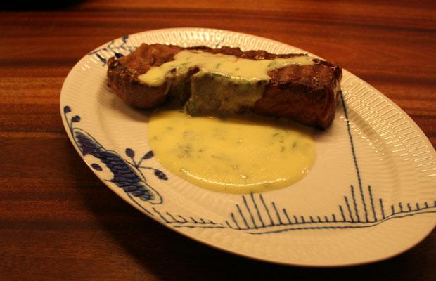 Bøf med sauce bearnaise