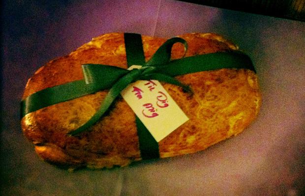 Brød med krummer i
